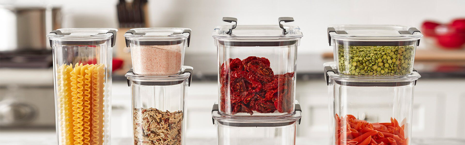 assorted brilliance food storage containers