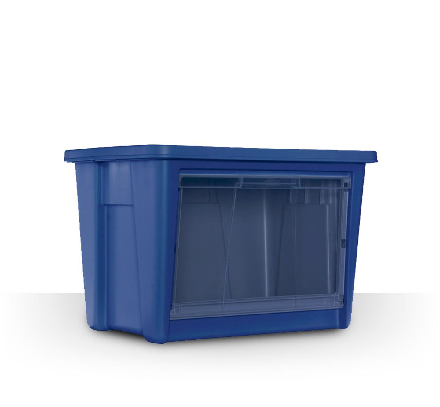 blue all access storage container tote