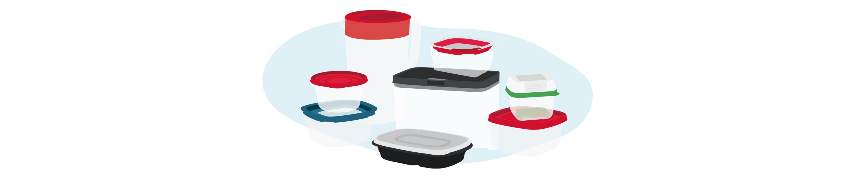 food storage containers in various sizes