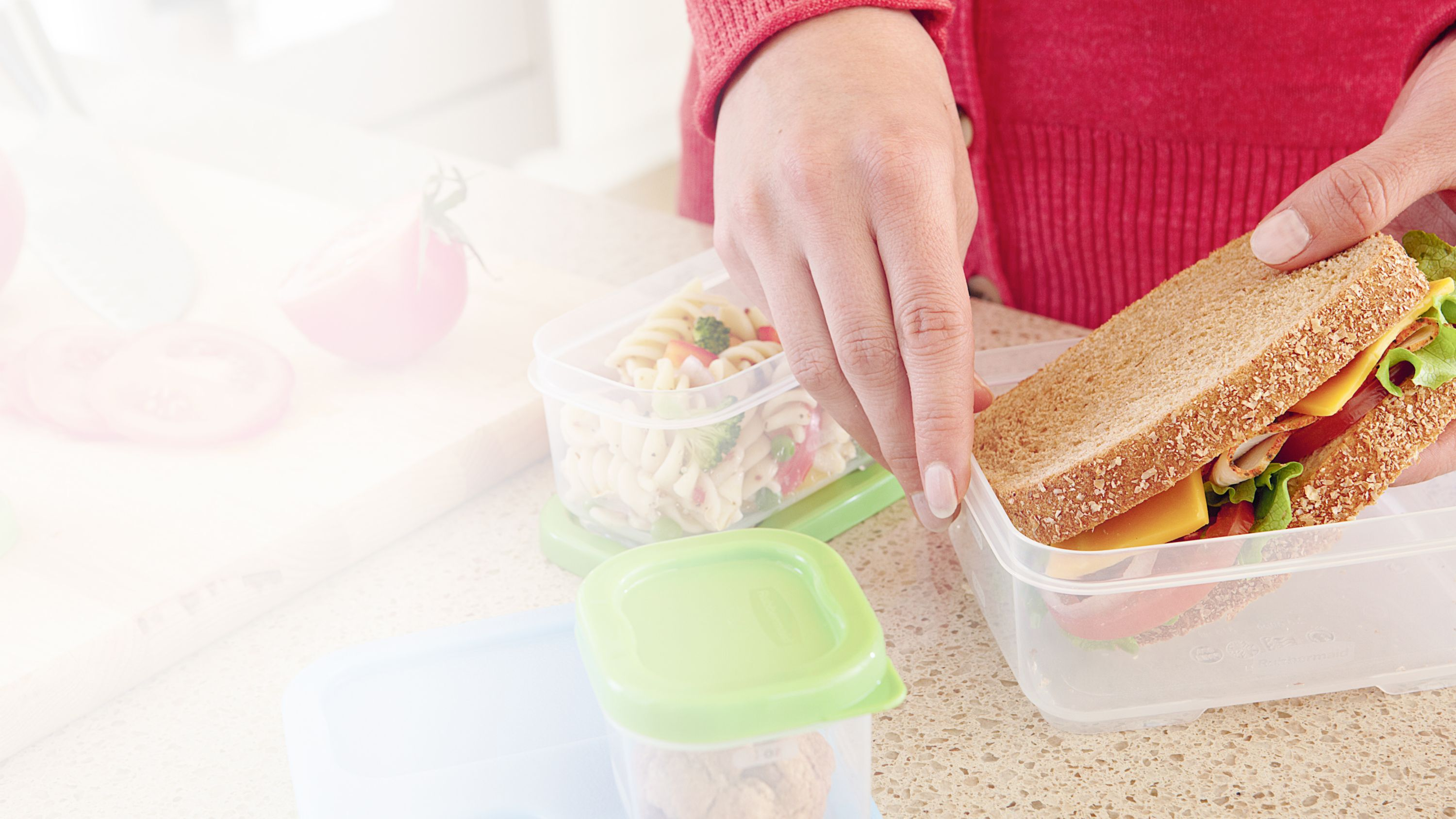 Rubbermaid LunchBlox food storage containers sandwich pasta