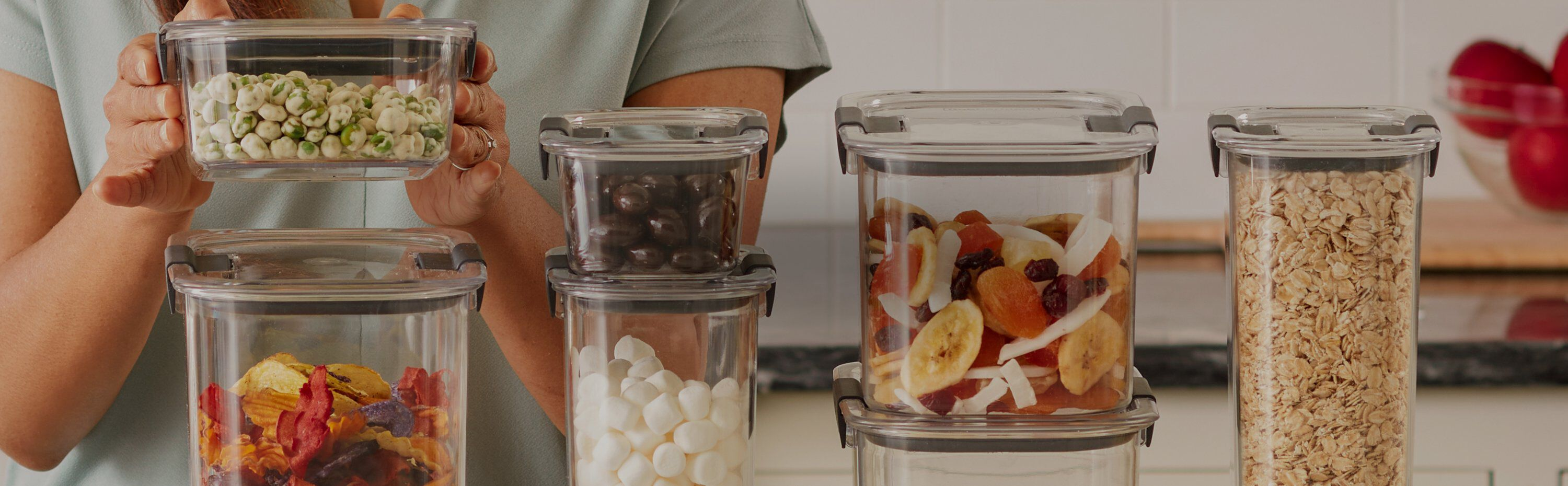 Clear containers with lids