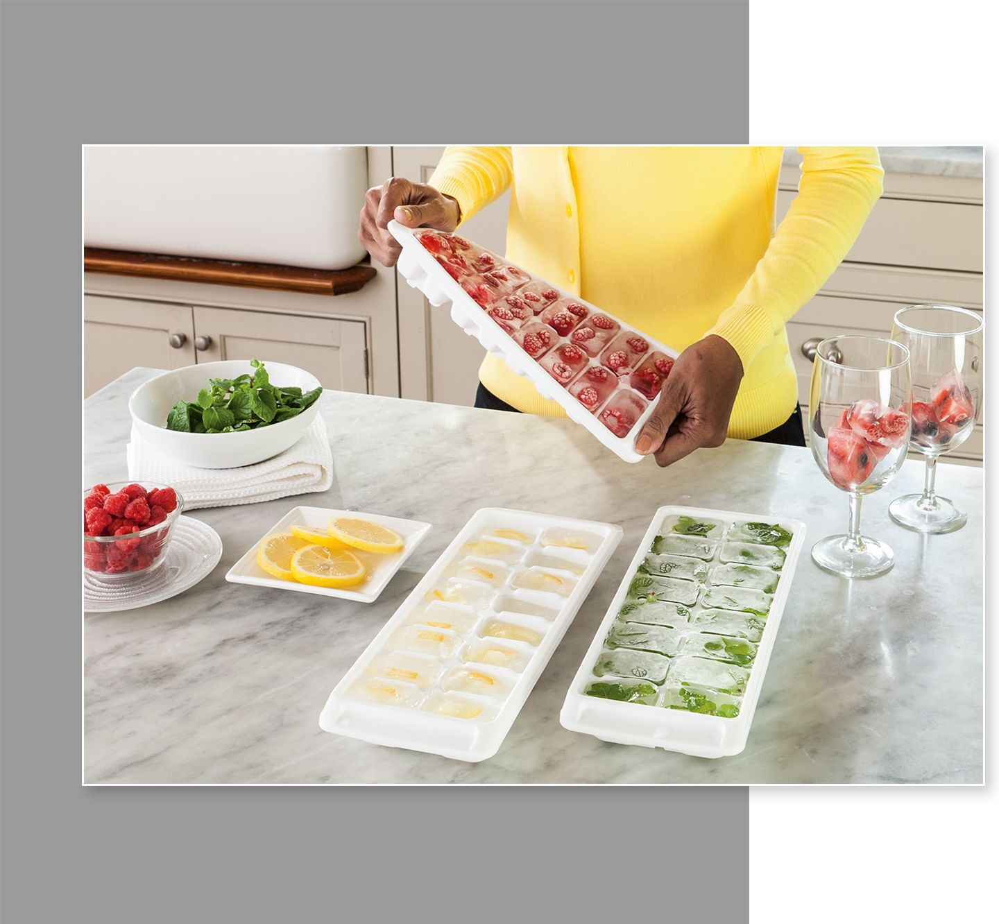 Rubbermaid ice cube trays party