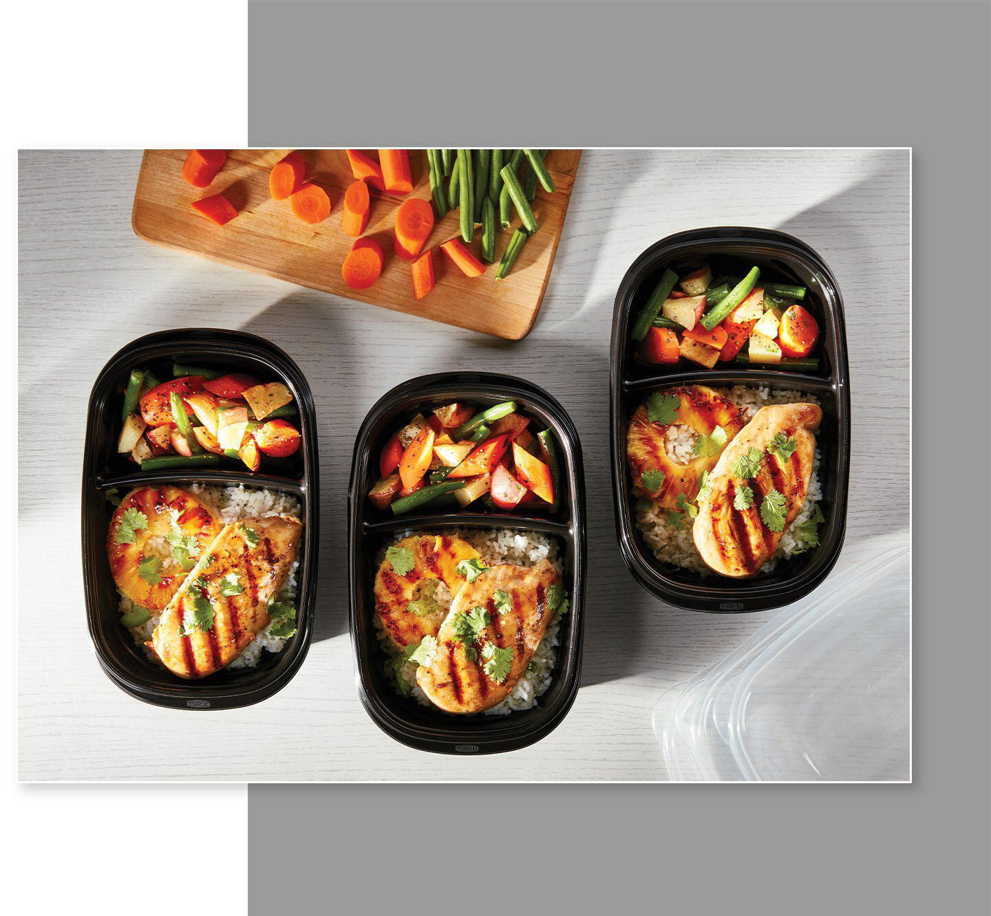 Rubbermaid TakeAlongs food storage containers divided meal prep