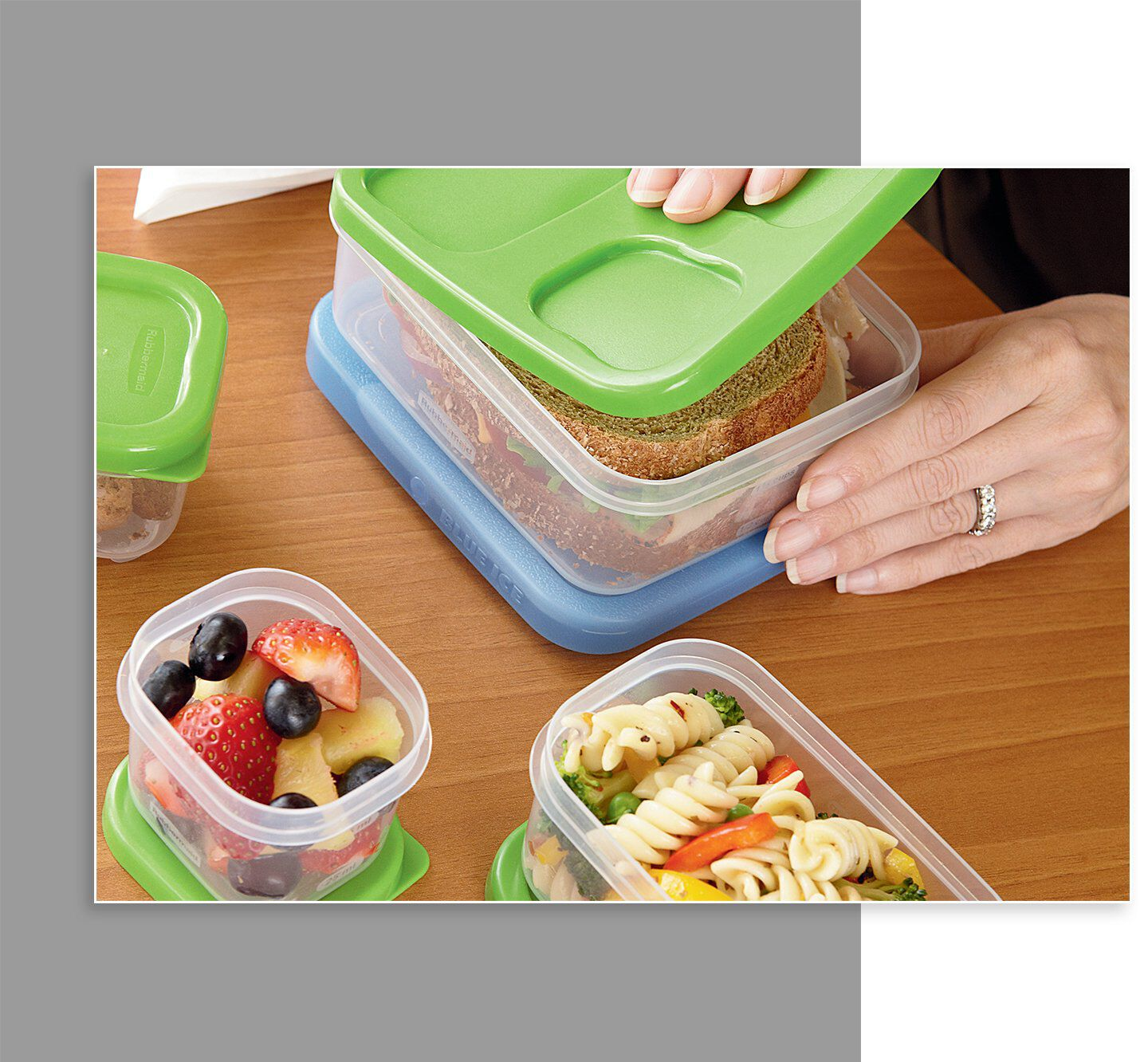 Rubbermaid LunchBlox food storage containers sandwich