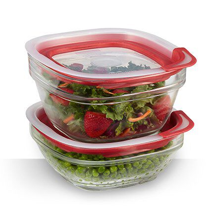 Rubbermaid easy find lids glass food storage containers